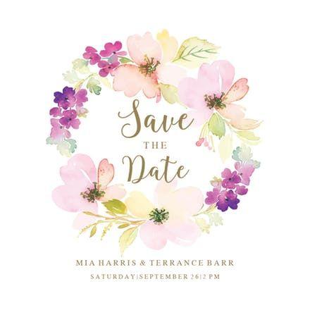 Sentimental Circle Save The Date Card Diy Save The Dates Save The Date Templates Free Wedding Templates