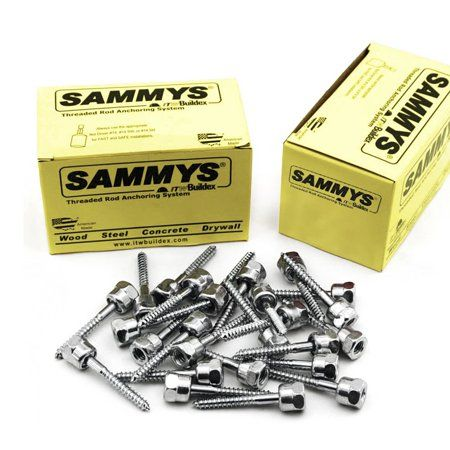 3 8 X 2 1 2 In Sammys Rod Anchor Super Screw 3 8 In Threaded Rod Fitting For Wood Pkg 25 Silver Coarse Thread Walmart Wood Steel