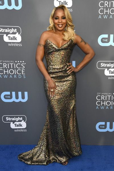 Singer/actor Mary J. Blige attends the 23rd Annual Critics' Choice Awards.