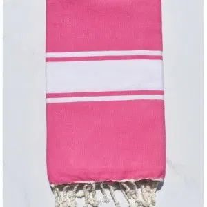 Flat Pink Turkish Fouta Towel Pink Towels