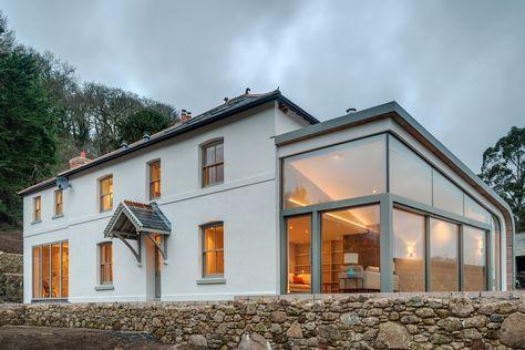 The Full Refurbishment And Extension Of A Victorian Farmhouse In Dartmoor Devon By Van Ellen Sheryn Farmhouse Glass Victorian Farmhouse Inglenook Fireplace