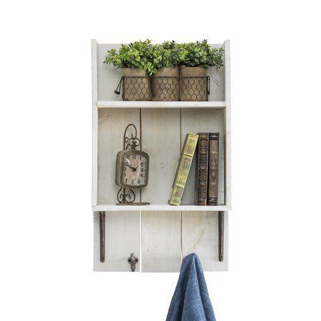 Free Shipping  Buy Reclaimed Wood Bathroom Shelf, White at