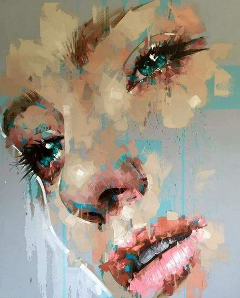 Ina Kostadinova Portrait Abstrait Peinture Abstraite Les Arts
