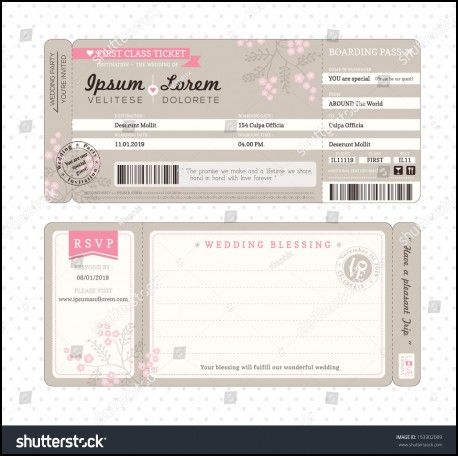 Flight Ticket Wedding Invitation Template Wedding Ideas - Wedding invitation templates: boarding pass wedding invitation template