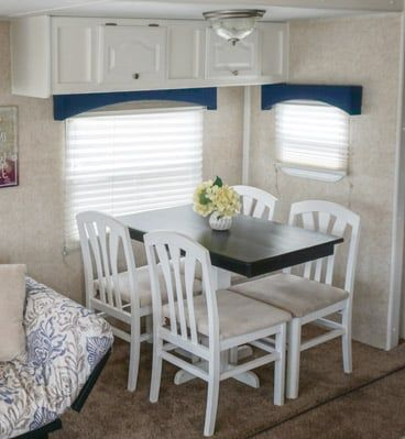 6 Quick Easy Remodel Projects That Transformed Our Rv Into A Home Easy Remodel Projects Remodeled Campers Dinette