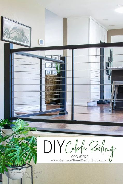 Diy Stairs, Indoor Balcony, Stair Banister, Stair Railing Makeover, Modern Railing, Diy Staircase