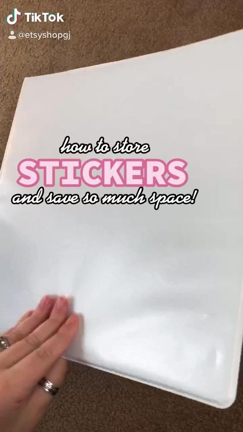 How to organize your stickers & SAVE SO MUCH SPACE