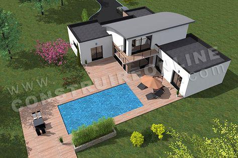 maison toit arrondi bac acier AMPLITUDE 3 | Extérieurs ...
