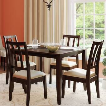 Schiavone 4 Piece Dining Set Set Ruang Makan Set Ruang Keluarga