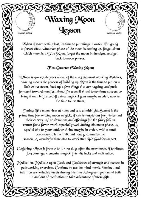 Waxing Moon Lesson | Witches Of The Craft®