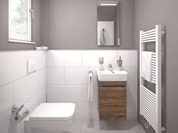 Gäste-WC in Modern (grau) - Grau Gäste-WC Linea - Gesamtansicht