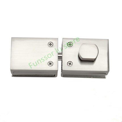 High Quality Glass Door Latches Lock Bolt 8 12mm Glass No Drilling For Bathroom Double Single Glass Door Frameless Glass Door Review Frameless Glass Doors Door Latch Glass Door