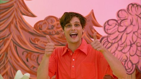 """"""" Yo Gabba Gabba Check out our new """"DAY CAMP"""" episode this Saturday (January on Nick Jr. Special guest appearance by matthew gray gubler (as official as it gets)! Matthew Gray Gubler, Matthew Grey, Elmo Party, Mickey Party, Dinosaur Party, Criminal Minds Cast, Spencer Reid, Dr Reid, Elmo Birthday"""
