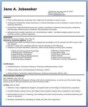 Pharmacy Technician Resume Sample No Experience Pharm Tech