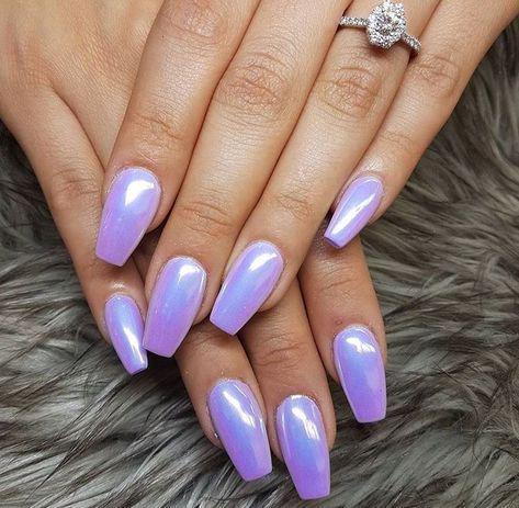 Purple #chromenails Purple