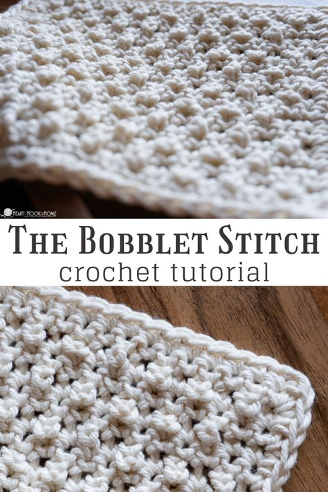 afghans The Bobblet Stitch in crochet is a fun way to add texture to your work. This stitch would be great for baby blankets, afghans, hats, and more! Crochet Stitches For Blankets, Tunisian Crochet Stitches, Crochet Stitches Patterns, Crochet Bobble Blanket Pattern, Unique Crochet Stitches, Crochet Baby Blanket Tutorial, Different Crochet Stitches, Crochet Throws, Crocheting Patterns