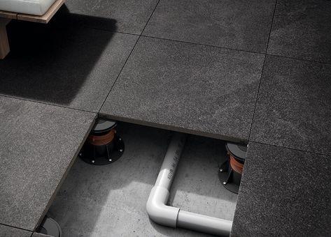 Le Carrelage Forte Epaisseur 20mm Permet Une Pose Sur Plot A L Instar De La Terrasse En Bois Sur Pilotis Dalle Sur Plot Terrasse Dalle Sur Plot Dalle Bois