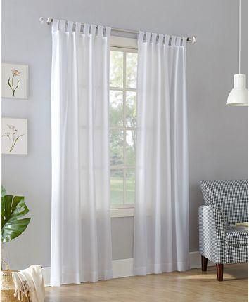 No 918 Clifford 40 White Paneling Drapes Curtains Tab Top Curtains White sheer tab top curtains