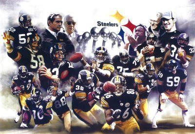 (11x17) Pittsburgh Steelers (Group, Trophies) Sports