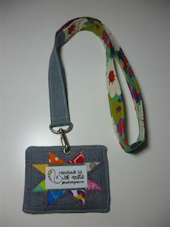 Custom fabric nametag made by jeli quilts