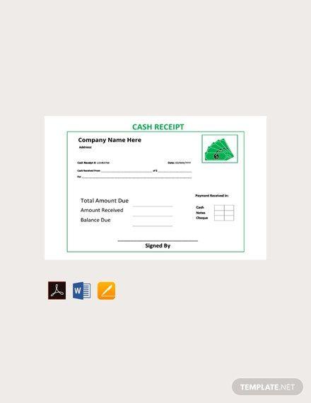 Free Cash Receipt Template Pdf Word Apple Pages Google Docs Receipt Template Free Receipt Template Financial Apps