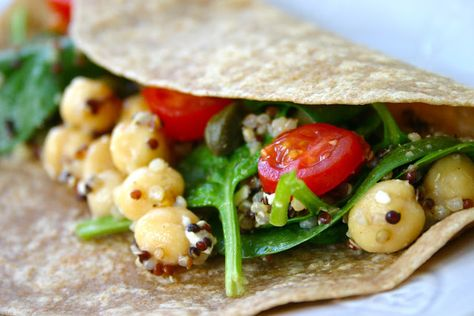 Bake It and Make It with Beth: Vegan or Vegetarian Wraps with Quinoa & Chickpeas