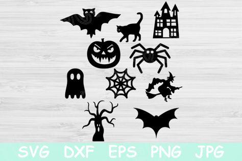 Ghost Svg Witch Svg Halloween Svg Bundle For Cricut Svg