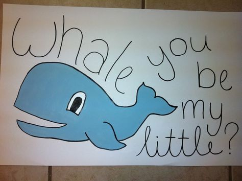 Whale you be my little?