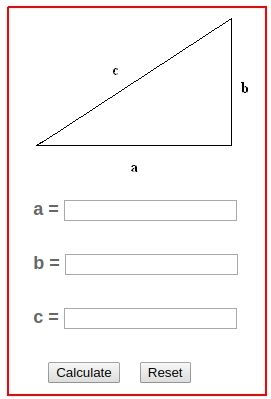 Pythagorean Theorem Calculator In 2020 Pythagorean Theorem Theorems Basic Geometry