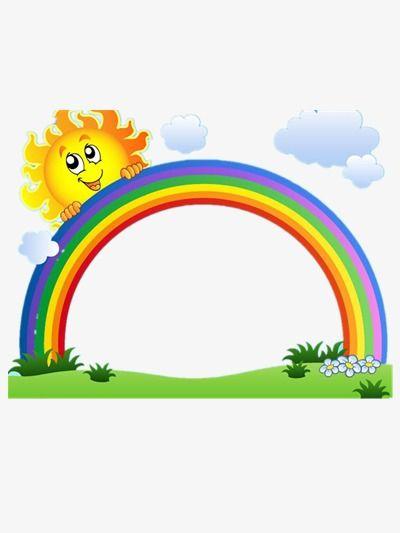 قوس قزح الشمس Rainbow Cartoon Rainbow Cartoon