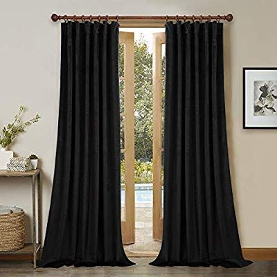Amazon Com Back Tab Blackout Velvet Curtains 96 Inches Long