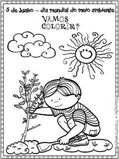 Atividades Escolares Desenhos Para Colorir Do Dia Do Meio