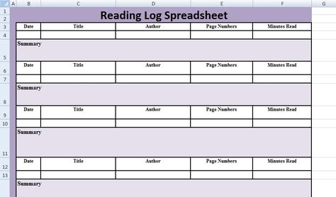 Reading Log Spreadsheet Template u2013 Excel Spreadsheet Templates - download salary slip