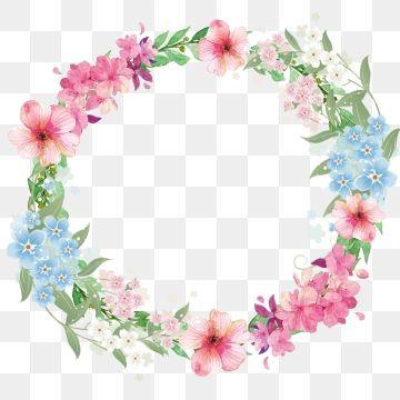 Flower Fresh Border Flower Border Leaf Border Floral Border Mothers Day Warm Pink Flowers Wreath L Flower Border Clipart Flower Border Png Floral Border Design