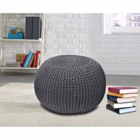 Knitted Fabric Pouf Texture Dori Teal Floor Ottoman Rest Chair Pillow Pouffe Knitted Pouf Floor Pouf Urban Shop