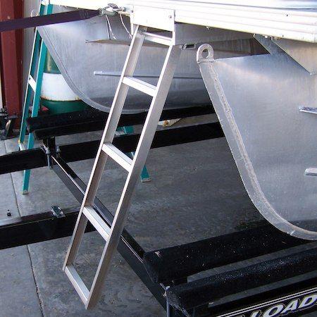 Under Deck 5 Step Pontoon Boat Ladder For Flat Front Decks Only Pontoon Boat Pontoon Boat Furniture Boat Ladders