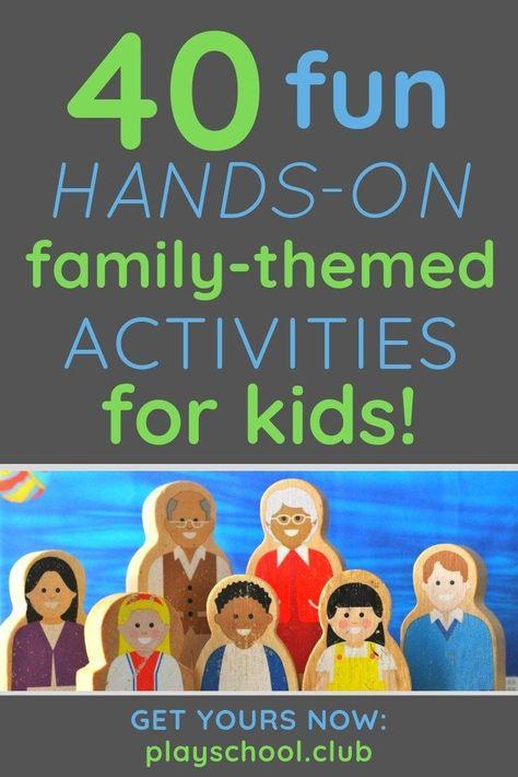 40 Fun Family Theme Preschool Activities