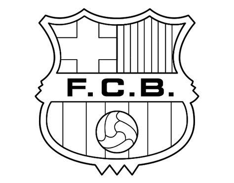 Dibujo De Un Escudo Del Fc Barcelona Para Pintar Colorear