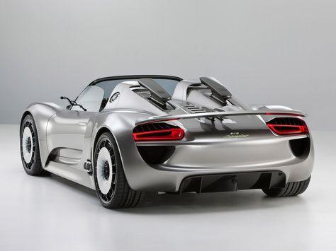 Porsche 918 Spyder Concept Rear Angle Porsche Super Cars Porsche 918