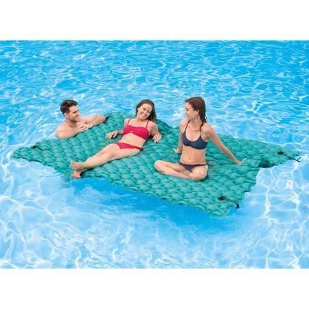 Intex Giant 9 5 Inflatable Floating Water Swimming Pool Lake Mat Platform Pad Image 4 Of 5 Giant Pool Floats Pool Mat Floating In Water