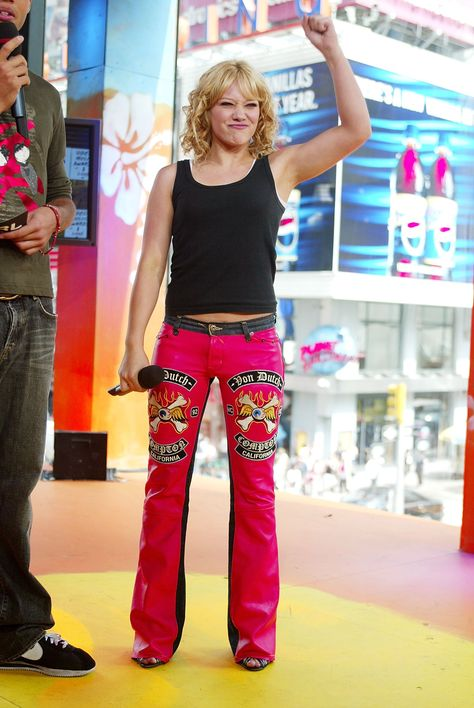 Pin for Later: The Ultimate TRL Time Machine Hilary Duff rocked some bright pants during a 2003 TRL appearance.