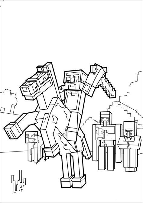 ausmalbilder minecraft8  kinder malbuch wenn du mal