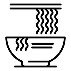 Ramen Noodle Icon Outline Ramen Noodle Vector Icon For Web Design Isolated On White Background Aff Outline Ramen I Web Design White Background Design