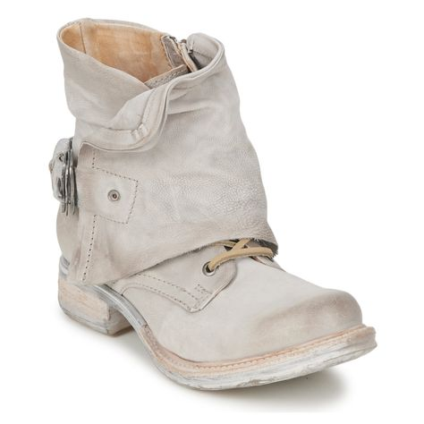 Airstep Saint Metal Silver Boots Shoes Mia Shoes
