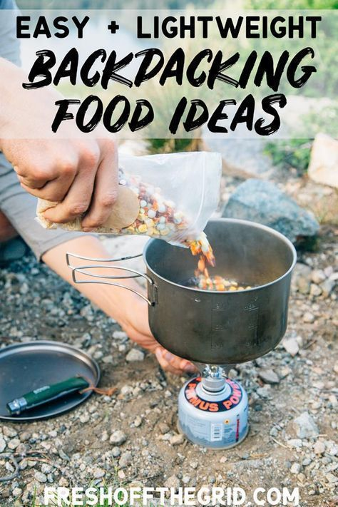 The Best Backpacking Food Ideas – Backpacking Breakfasts, Backpacking Lunch, Backpacking Dinners – we show you our favorite picks from our time on the trail! The post Easy Backpacking Food Ideas appeared first on Woman Casual - Camping Camping En Kayak, Camping And Hiking, Camping Meals, Outdoor Camping, Camping Hacks, Camping Cooking, Diy Camping, Camping Guide, Family Camping