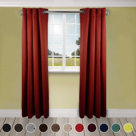 Premium Soft Touch Curtain Panel 180 Inch X 96 Inch 1 Panel Red Size 180 Inch X 96 Inch Colorful Curtains Cool Curtains Panel Curtains