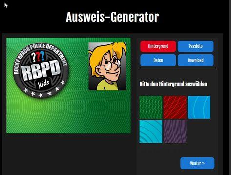 Dreifragezeichen Detektivausweis Generator Drei