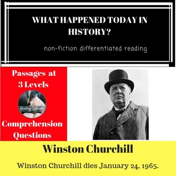 Winston Churchill Differentiated Reading Comprehesion Passage