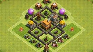 Coc Th 4 Best Defence Base 3