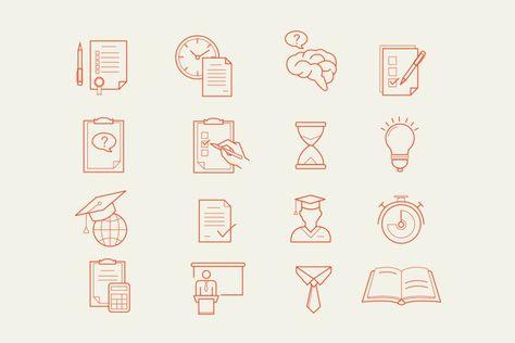 Educated Orange (134596)   Icons   Design Bundles